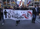 Demonstrace hnutí Bergida, která byla spojena s pi...