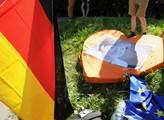 Při návštěvě kancléřky Angely Merkelové v Praze