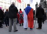 Protivládní demonstrace na Václavském náměstí.