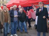 Babiš na mítinku v Plzni