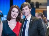 Kandidát na prezidenta Marek Hilšer s manželkou Mo...