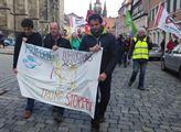 Čelo demonstrace