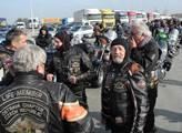 Konvoj doprovázeli ostravští motorkáři