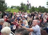Na setkání prezidenta Miloše Zemana s občany v obc...
