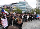Protest za nezávislost justice v Ostravě
