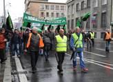 Demonstranti pochodovali centrem Ostravy