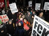 Levicoví aktivisté protestovali proti setkání stra...