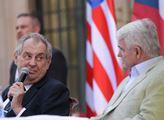 Prezident Miloš Zeman navšívil recepci u příležito...