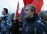 Protesty proti konání konference politiků frakce E...