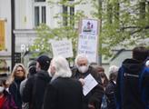 Protest na Václavském náměstí v Praze upozorňující...