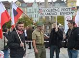 Ne islámské imigraci. Demonstrace v Ostravě