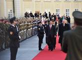 Přivítání čínského prezidenta Si Ťin-pchinga na ná...