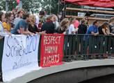 Sobotní demonstrace v Hamburku proti summitu G20. ...