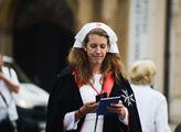 Požehnání obnoveného Mariánského sloupu, které se ...