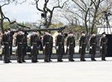 Ceremoniální kladení věnců k výročí ukončení druhé...