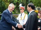 Prezident ČR Miloš Zeman na státní návštěvě Vietna...