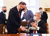 Polský prezident Andrzej Duda navštívil českého pr...