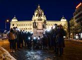 Na Václavském náměstí se sešli podporovatelé Alexe...
