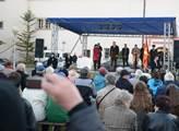 Prezident Zeman při debatě s občany Zámrsku na Par...