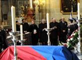 Poslední rozloučení s Václavem Havlem zádušní mší ...