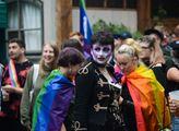 """Zastánci LGBT komunity propluli Prahou. Hřib na jejich počest """"pomaloval"""" tramvaje"""