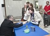 Arcibiskup Dominik Duka podepisoval v budově rozhl...