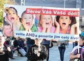 Demonstrace facebookové skupiny AUVA na Václavském...