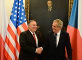 Ministr zahraničí USA Mike Pompeo navštívil prezid...
