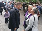 Tomio Okamura diskutoval s občany
