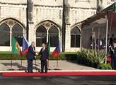 Přivítání prezidentem Portugalska u kláštera sv. J...