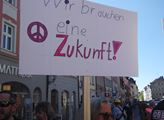Velikonoční mírový pochod v bavorském Ansbachu