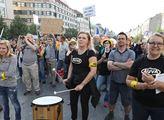 Demonstrace aktivistické skupiny AUVA (Andrejovy ú...
