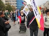 Demonstrace Společně za vystoupení z EU na Václavs...