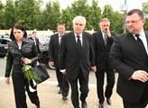 Miloš Zeman se svou družinou