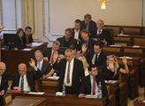 Sněmovna před projevem prezidenta Miloše Zemana