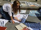 Demonstrace Putin není náš car na podporu demokrat...