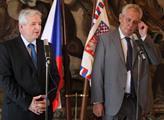 Jiří Rusnok s prezidentem Milošem Zemanem
