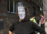 Petiční stánek SPD za zrušení squatu Klinika a jeh...