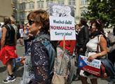 Protestní akce s názvem Neztrácíme naději! Vláda S...