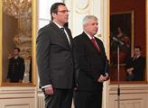 Guvernér ČNB Miroslav Singer s Jiřím Rusnokem