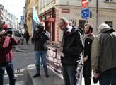 Demonstrace Evropo přestaň dotovat prasečák v Lete...