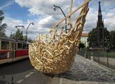 Umělecké dílo ve vozovce