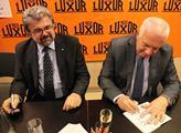 Křest knihy Václava Klause a Jiřího Weigla Stěhová...