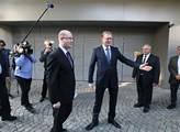 Pavel Bělobrádek vítá premiéra Bohuslava Sobotku