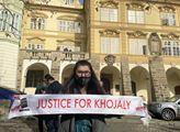 Pietní vzpomínka, během které členové ázerbájdžánské komunity uctili památku obyvatel města Chodžaly