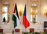 Vlajka Česka a Palestiny