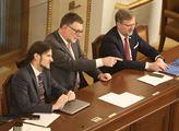 Schůze sněmovny. Poslanci se zabývali návrhem na z...
