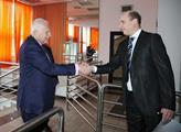 Václav Klaus s moderátorem Partie s moderátorem Pa...