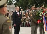 Premiér Bohuslav Sobotka uctil památku obětí druhé světové války na pražském Vítkově