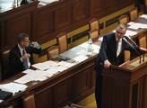 Miroslav Kalousek při interpelaci na Andreje Babiš...